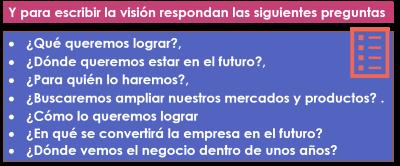 visión de la empresa
